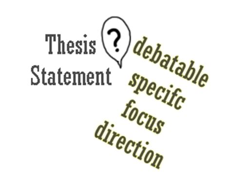 Effective Thesis Statements English Composition I